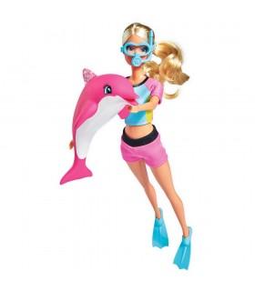 Steffi Love Dolphin Fun 29 Cm Cu Delfin Si Accesorii