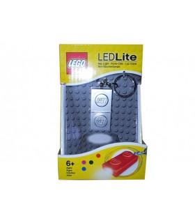 Breloc Cu Lanterna LEGO Placa Argintie