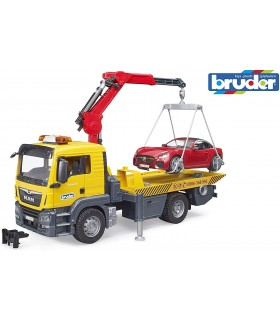 Camion Platforma MAN TGS cu Macara & Vehicul
