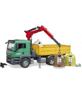 Masina de Gunoi MAN TGS cu Macara si 3 Containere