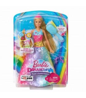 Barbie Cu Perie Si Rochita Multicolora