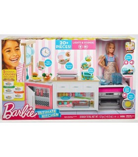 Barbie Cu Set De Joaca Bucatarie