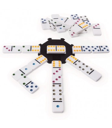 Joc Domino 6 Culori In Cutie De Metal