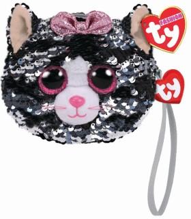 Gentuta Pisica Kiki Cu Paiete, 10 cm