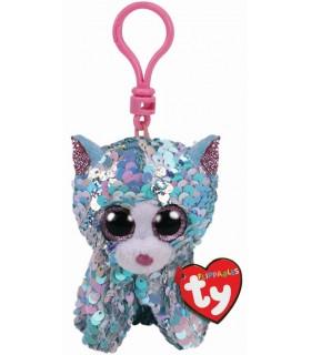 Breloc Sequins Pisica Whymsy Cu Paiete, 8.5 cm