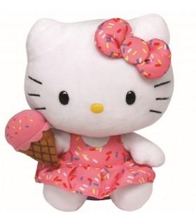 Beanie Babies Hello Kitty Cu Inghetata, 15 cm