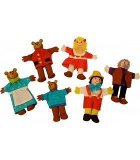 Pinochio Si Povestea Cei Trei Ursuleti - Papusi Degetar