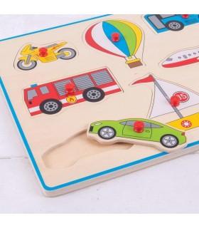 Puzzle Din Lemn Incastru - Vehicule