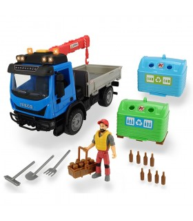 Camion Playlife Iveco Recycling Container Set Cu Figurina Si Accesorii