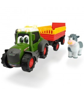 Tractor Happy Fendt Animal Trailer cu Remorca si Figurina