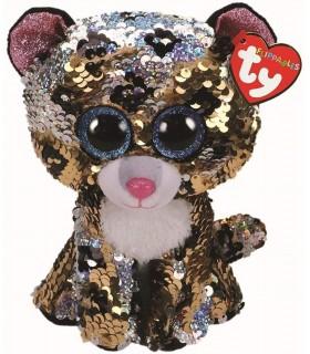Boos Leopardul Sterling Cu Paiete, 15 cm