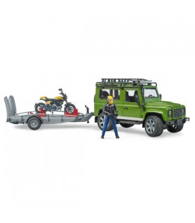 Masina De Teren Land Rover Cu Remorca Si Motocicleta Ducati
