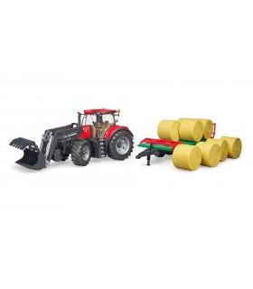 Tractor Case IH Optum 300 CVX & Remorca De Transport Baloti