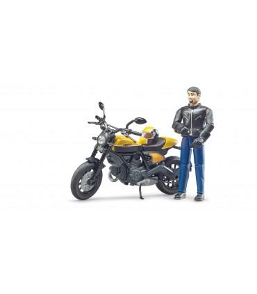 Motocicleta Ducati Scrambler Cu Motociclist