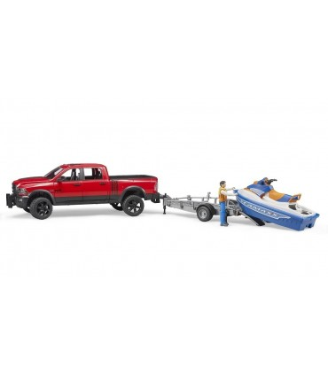 Dodge RAM 2500 Power Wagon cu Remorca, Figurina Si Ski Jet