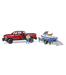 Dodge RAM 2500 Power Wagon cu Remorca, Figurina Si Ski Jet