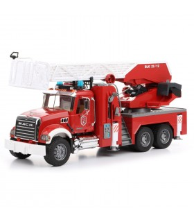 Masina De Pompieri Mack Granite Cu Pompa Apa, Sunet Si Lumini
