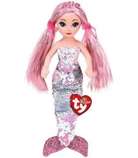 Sirena Roz Cu Paiete, 27 cm