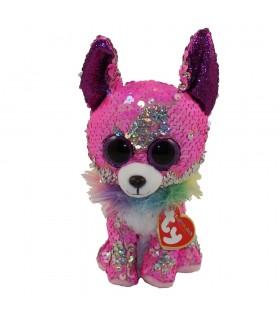 Boos Chihuahua Roz Cu Paiete, 15 cm