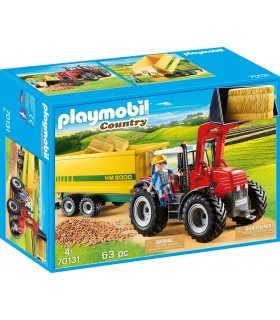 Tractor Cu Remorca Galbena
