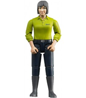Femeie Cu Camasa Verde Si Pantaloni Negri