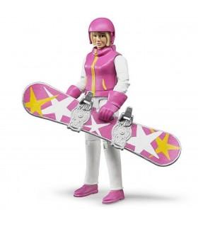 Femeie Cu Snowboard