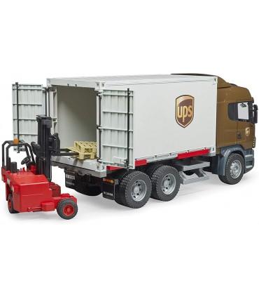 Camion Scania UPS Cu Container Si Stivuitor Portabil