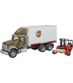 Camion MACK Granite UPS Cu Container Si Stivuitor Portabil