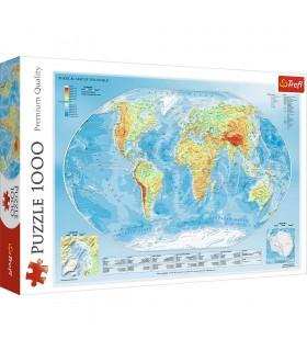 Harta Fizica A Lumii, 1000 Piese