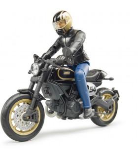 Motocicleta Ducati Cafe Racer Cu Motociclist