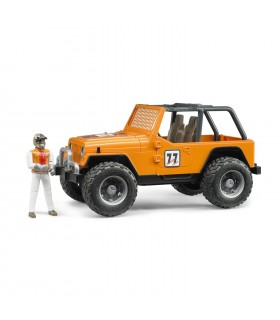 Jeep Cross Country Racer Portocaliu Cu Pilot De Curse