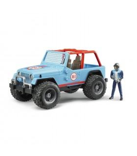 Jeep Cross Country Racer Albastru Cu Pilot De Curse