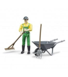 Set Figurina Agricultor Cu Accesorii