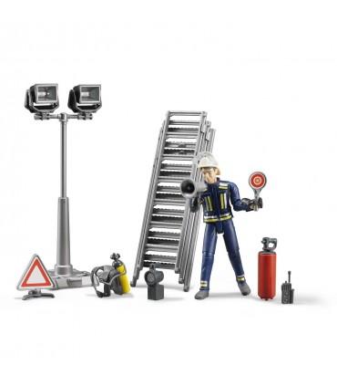 Set Figurina Pompier Cu Accesorii