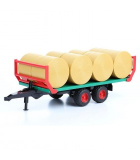 Remorca Transport Baloti Cu 8 Baloti Rotunzi