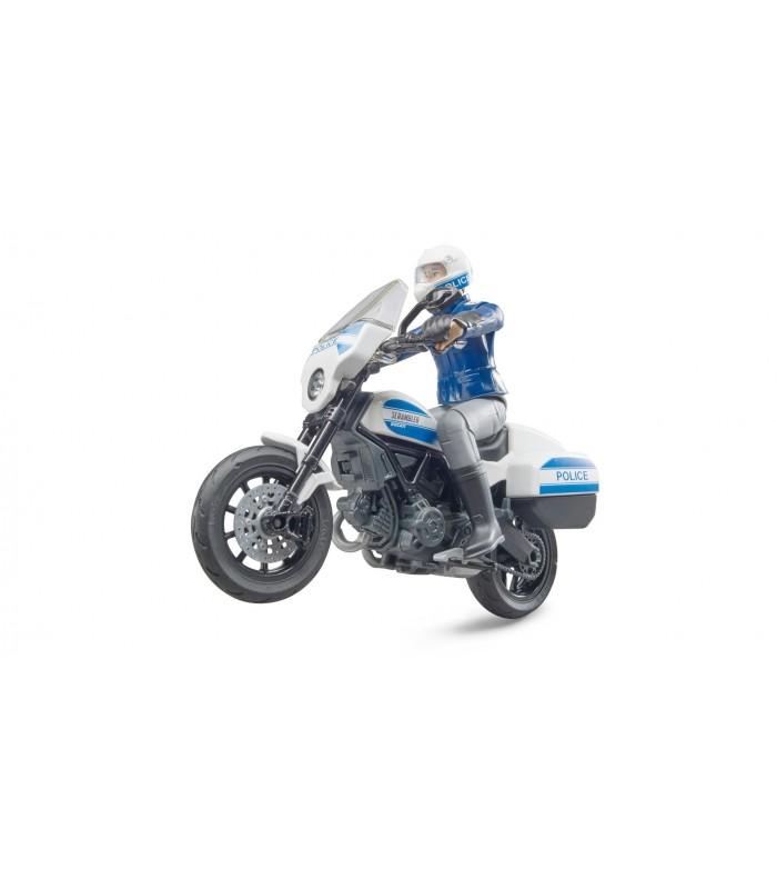 Motocicleta Politie Ducati Scrambler Cu Politist Motociclist