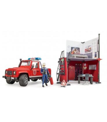 Statie De Pompieri Si Pompier Cu Land Rover Defender