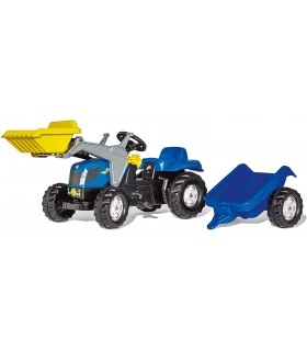 Incarcator Frontal Cu Pedale Si Remorca rollyKid New Holland