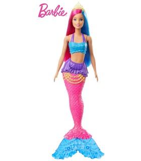 Barbie Sirena Cu Coronita Verde