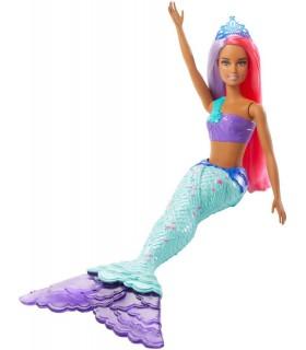 Barbie Sirena Cu Parul In Doua Culori