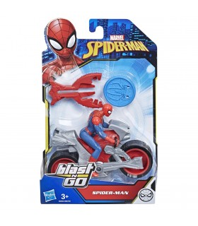 Motocicleta Lui Spiderman Cu Figurina Si Lansator