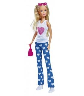 Steffi Jeans Fashion Cu Bluza Alba