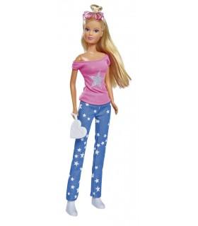 Steffi Jeans Fashion Cu Bluza Roz