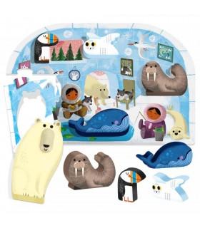 Montessori Primul Meu Puzzle Polul Nord