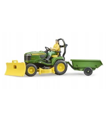 Tractor De Cosit John Deere Cu Remorca Si Gradinar