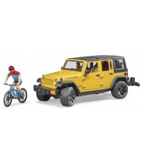 Jeep Wrangler Rubicon Unlimited Cu Bicicleta De Munte Si Ciclist