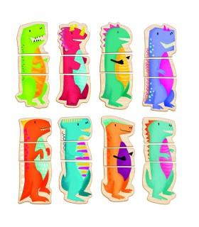 Cutie Universul Dinozaurilor Cu 24 Piese Din Lemn Si Magnetice