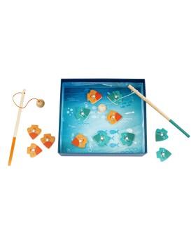 Cutie Universul Pescuitului Cu 12 Piese Din Lemn Si Magnetice