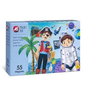 Cutie Magnetica Super Eroi Cu 55 De Piese