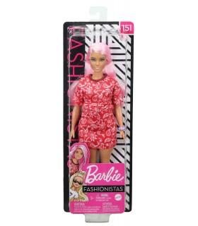 Barbie Fashionista Cu Parul Roz